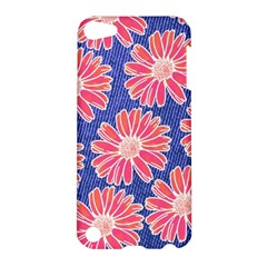 Pink Daisy Pattern Apple Ipod Touch 5 Hardshell Case by DanaeStudio