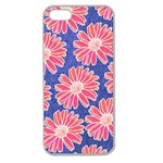 Pink Daisy Pattern Apple Seamless iPhone 5 Case (Clear)