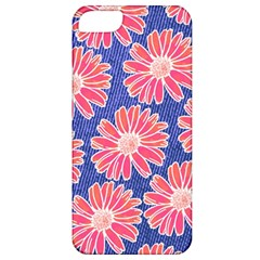 Pink Daisy Pattern Apple Iphone 5 Classic Hardshell Case by DanaeStudio