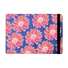 Pink Daisy Pattern Apple Ipad Mini Flip Case by DanaeStudio