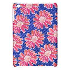 Pink Daisy Pattern Apple Ipad Mini Hardshell Case by DanaeStudio