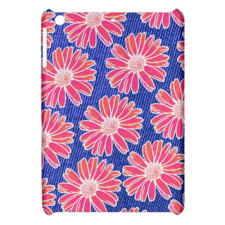 Pink Daisy Pattern Apple iPad Mini Hardshell Case