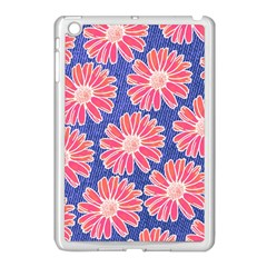 Pink Daisy Pattern Apple Ipad Mini Case (white) by DanaeStudio