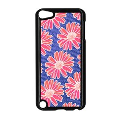 Pink Daisy Pattern Apple Ipod Touch 5 Case (black) by DanaeStudio