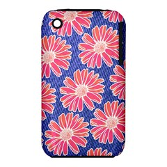 Pink Daisy Pattern Apple Iphone 3g/3gs Hardshell Case (pc+silicone) by DanaeStudio