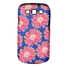Pink Daisy Pattern Samsung Galaxy S Iii Classic Hardshell Case (pc+silicone) by DanaeStudio