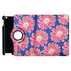 Pink Daisy Pattern Apple iPad 3/4 Flip 360 Case