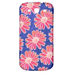 Pink Daisy Pattern Samsung Galaxy S3 S Iii Classic Hardshell Back Case by DanaeStudio