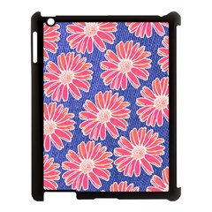Pink Daisy Pattern Apple Ipad 3/4 Case (black) by DanaeStudio