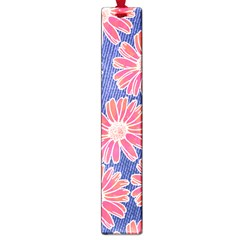 Pink Daisy Pattern Large Book Marks by DanaeStudio