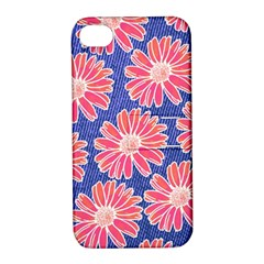 Pink Daisy Pattern Apple Iphone 4/4s Hardshell Case With Stand by DanaeStudio