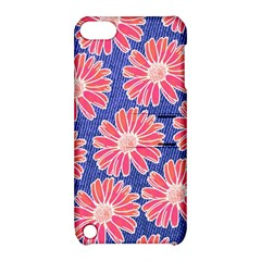 Pink Daisy Pattern Apple Ipod Touch 5 Hardshell Case With Stand by DanaeStudio