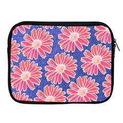 Pink Daisy Pattern Apple Ipad 2/3/4 Zipper Cases by DanaeStudio