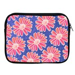 Pink Daisy Pattern Apple iPad 2/3/4 Zipper Cases Front