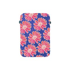 Pink Daisy Pattern Apple Ipad Mini Protective Soft Cases by DanaeStudio