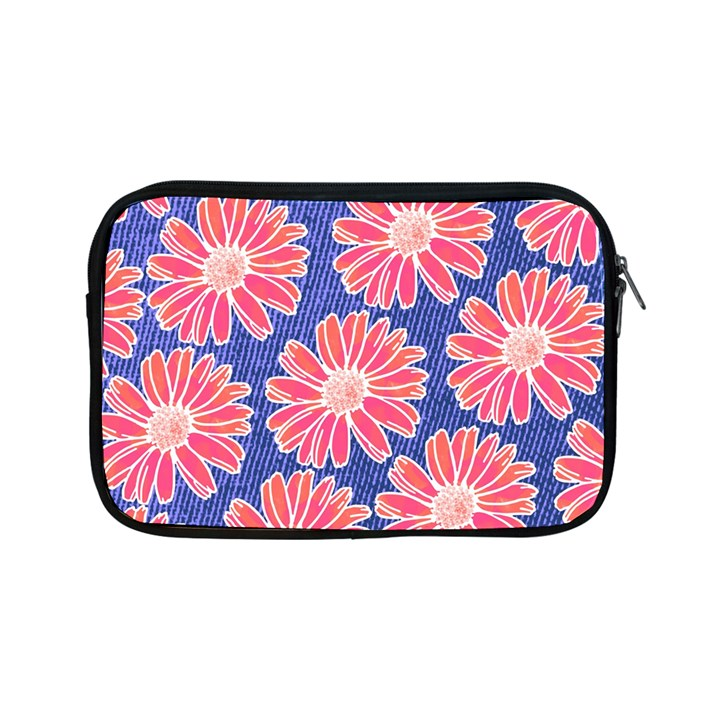 Pink Daisy Pattern Apple iPad Mini Zipper Cases