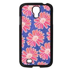 Pink Daisy Pattern Samsung Galaxy S4 I9500/ I9505 Case (Black)