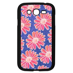 Pink Daisy Pattern Samsung Galaxy Grand Duos I9082 Case (black) by DanaeStudio
