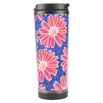 Pink Daisy Pattern Travel Tumbler Left