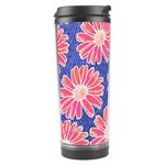 Pink Daisy Pattern Travel Tumbler Center
