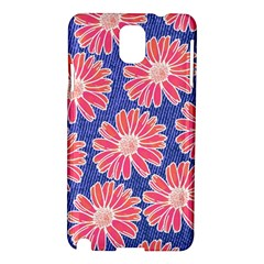 Pink Daisy Pattern Samsung Galaxy Note 3 N9005 Hardshell Case by DanaeStudio