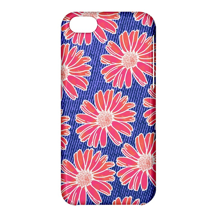 Pink Daisy Pattern Apple iPhone 5C Hardshell Case