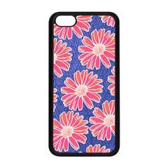 Pink Daisy Pattern Apple Iphone 5c Seamless Case (black)