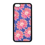 Pink Daisy Pattern Apple iPhone 5C Seamless Case (Black) Front