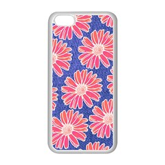 Pink Daisy Pattern Apple Iphone 5c Seamless Case (white) by DanaeStudio