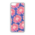 Pink Daisy Pattern Apple iPhone 5C Seamless Case (White)