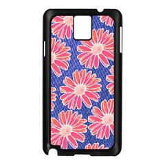 Pink Daisy Pattern Samsung Galaxy Note 3 N9005 Case (black) by DanaeStudio
