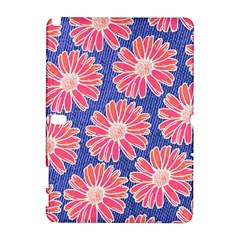 Pink Daisy Pattern Samsung Galaxy Note 10 1 (p600) Hardshell Case by DanaeStudio