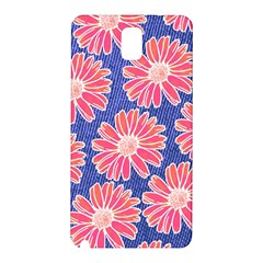 Pink Daisy Pattern Samsung Galaxy Note 3 N9005 Hardshell Back Case by DanaeStudio