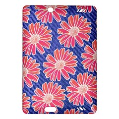Pink Daisy Pattern Amazon Kindle Fire Hd (2013) Hardshell Case by DanaeStudio