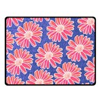 Pink Daisy Pattern Double Sided Fleece Blanket (Small)  45 x34 Blanket Front