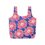 Pink Daisy Pattern Full Print Recycle Bags (S)  Back