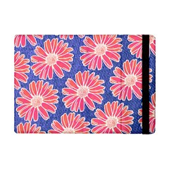 Pink Daisy Pattern Ipad Mini 2 Flip Cases by DanaeStudio