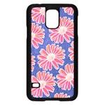 Pink Daisy Pattern Samsung Galaxy S5 Case (Black) Front