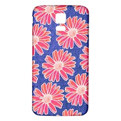 Pink Daisy Pattern Samsung Galaxy S5 Back Case (white) by DanaeStudio