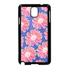 Pink Daisy Pattern Samsung Galaxy Note 3 Neo Hardshell Case (black) by DanaeStudio