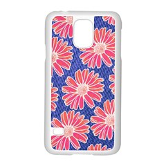 Pink Daisy Pattern Samsung Galaxy S5 Case (white)