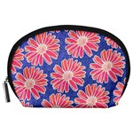 Pink Daisy Pattern Accessory Pouches (Large)