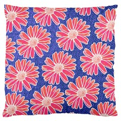 Pink Daisy Pattern Standard Flano Cushion Case (one Side) by DanaeStudio