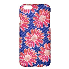 Pink Daisy Pattern Apple Iphone 6 Plus/6s Plus Hardshell Case by DanaeStudio