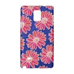 Pink Daisy Pattern Samsung Galaxy Note 4 Hardshell Case by DanaeStudio