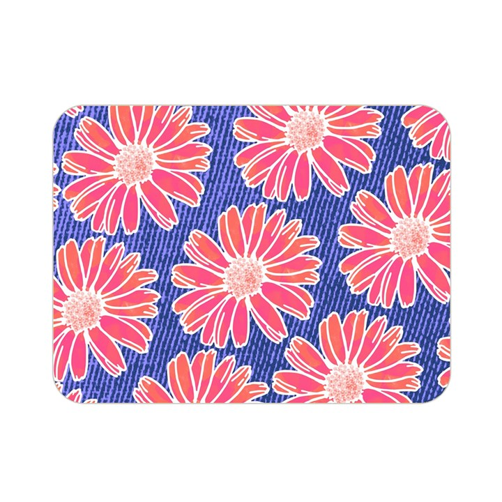 Pink Daisy Pattern Double Sided Flano Blanket (Mini)