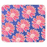 Pink Daisy Pattern Double Sided Flano Blanket (Small)