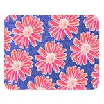 Pink Daisy Pattern Double Sided Flano Blanket (Large)   Blanket Back