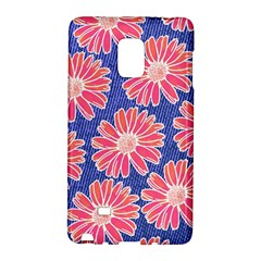 Pink Daisy Pattern Galaxy Note Edge by DanaeStudio
