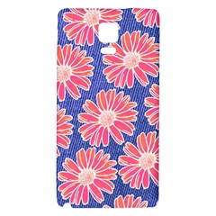 Pink Daisy Pattern Galaxy Note 4 Back Case by DanaeStudio